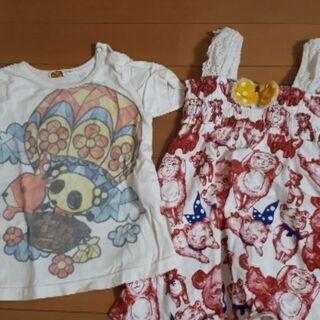 ☆ミルデベリーのTシャツ&アメリカンなクマ柄キャミワンピ☆95s...