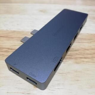 ほぼ新品!8in1多機能USBハブ(2)マックブックプロ2016...