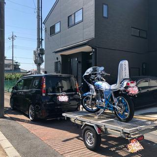 マルチトレーラー 軽トレーラー バイク 積載 キャンプ 車検有
