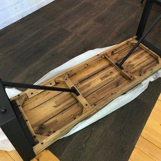 【在庫処分大特価】 ベンチ チェア イス 椅子 腰掛け アカシア 無垢材 アジアン ヴィンテージ - 売ります・あげます
