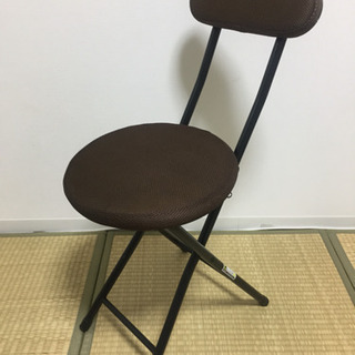 10/21処分開始予定◎中古◎折畳み椅子ブラウン