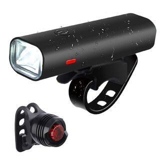 自転車ヘッドライト USB充電式 2500mAh