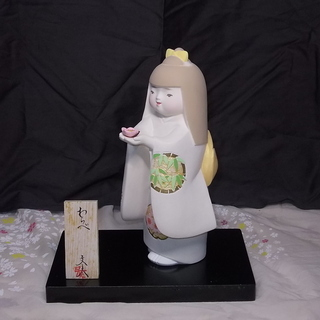 【取引終了】《未使用》博多人形童物「わらべ」 松尾文夫作