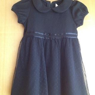 美品・黒ワンピース(式服・礼服)100サイズ 美品