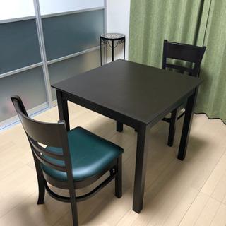 お値下げ中‼︎【美品】高級椅子 2人掛けダイニングセット