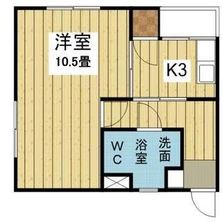 メイプルハウス御幸301号 1LDK【3.1万円】エアコン付き!...