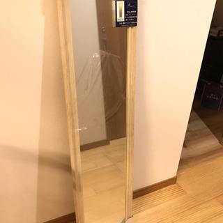 新品 ウォールミラー 鏡 シューズクローク  壁掛け