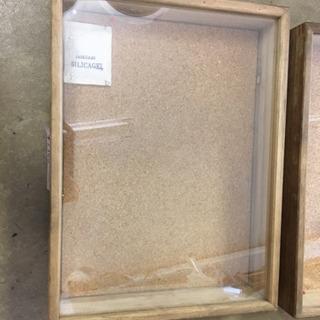 標本箱、3個、小さいの100円中くらい700円