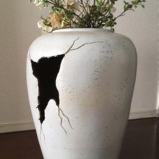 在庫処分  花瓶 (☆中古造花付き)