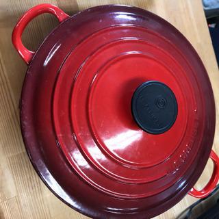 赤色 ル・クルーゼ 直径24cm