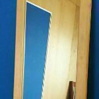 ミラー 天然木フレーム 鏡面 ナチュラル 姿見鏡