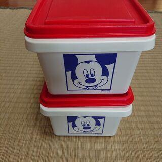 タッパー ミッキーマウス容器2個セット