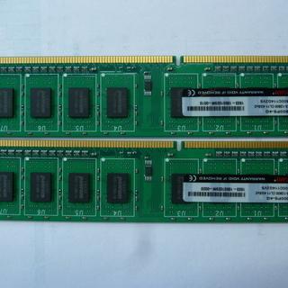 デスクトップ用メモリー PC3-12800 8㎇ (4㎇×2枚)...