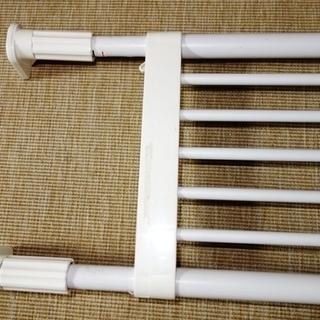 突っ張り棚 強力伸縮タイプ 白 - 家具