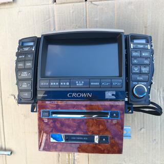 18クラウン マルチ CDチェンジャー ウッドパネル モニター