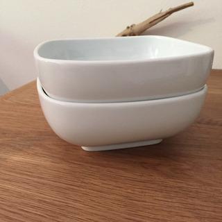 無印良品 白磁角鉢 大 2枚セット