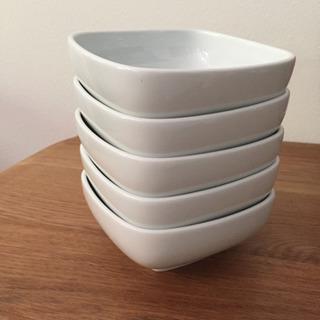 無印良品 白磁角鉢 中 5枚セット