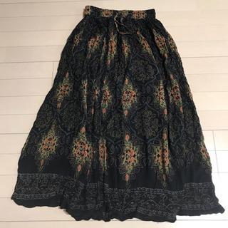 【女性限定】アジアン ロングスカート