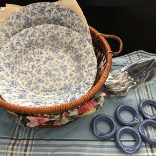 TONO CHINA ブルーローズ カレー皿5枚セット
