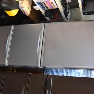 H◎SHARP シャープ 350L 3ドア冷凍冷蔵庫 両開きドア/...