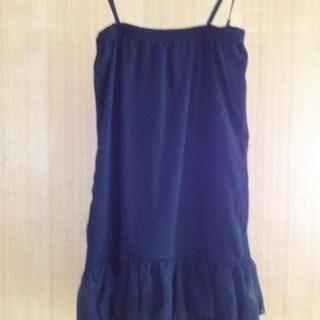 黒 2way(トップス・スカート両用)美品・便利な一着