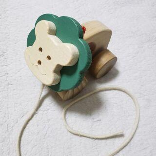木製 ライオン プルトイ