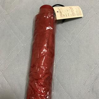 新品  折りたたみ傘  赤