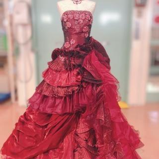 ウェディング カラードレス ワインレッド 7~11号
