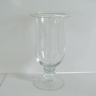ポーランド製大きなガラス花瓶 フラワーベース ラッパ型 シンプル...