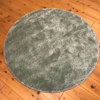 美品IKEA  円形 カーペット ラグ195cm ADUM