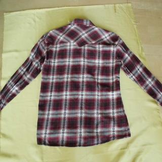 しまむら ソリデル 赤チェックシャツ L