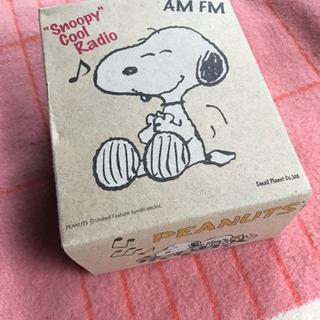 SNOOPYのラジオ 未使用品