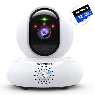 【新品・未使用】32GBカード付 監視カメラ wifi 小型 ネ...