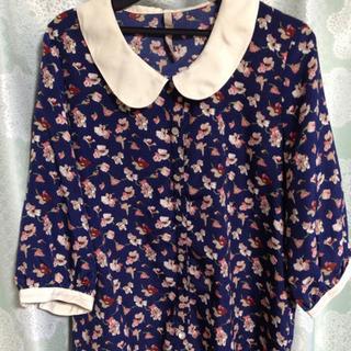 花柄 シャツ 襟付き Mサイズ