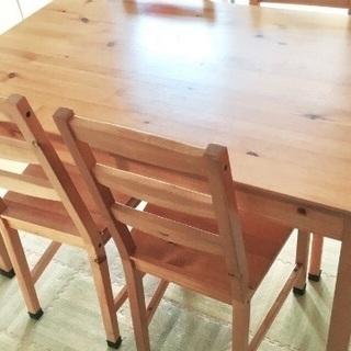 IKEA テーブルチェア4脚セット
