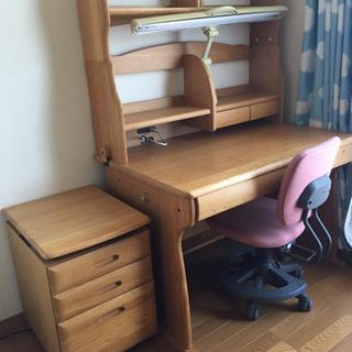 学習机(大川家具) 椅子付き