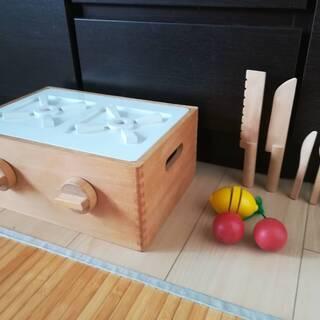 木製のキッチンおもちゃ・ガスレンジ型(無印良品)