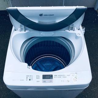 🌠七夕セール🌠409番 SHARP✨全自動電気洗濯機😘ES-GE-55N‼️ - 新宿区