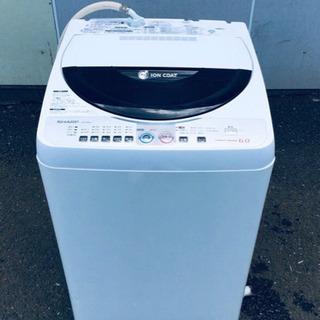 408番 SHARP✨全自動電気洗濯機😘ES-FG60J‼️