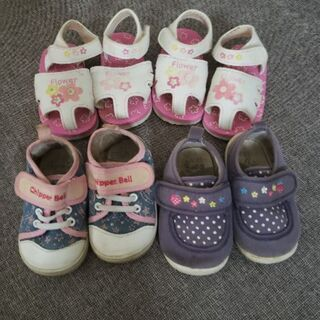 靴 13センチ サンダル、運動靴4足