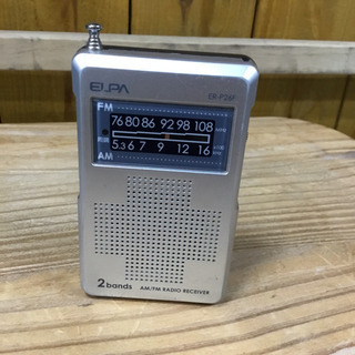 #2412 ELPA AM/FMコンパクトラジオ ER-P26F