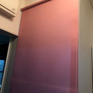 ロールカーテン ピンク