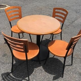 ☆無料 地元のみ☆丸テーブル☆椅子4脚セット☆