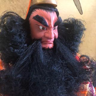 【あげます】高級日本人形、武政作「鍾馗様」、ガラスケース有、保管用箱有