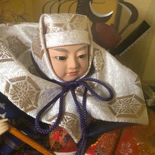 【美品】高級日本人形、武政作「橋弁慶」、ガラスケース有、保管用箱有