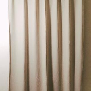★【6/27迄】(美品)防炎1級遮光カーテン(無印良品)2枚・中古★