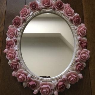 バラ装飾かがみ・アロマオイル(訳あり)