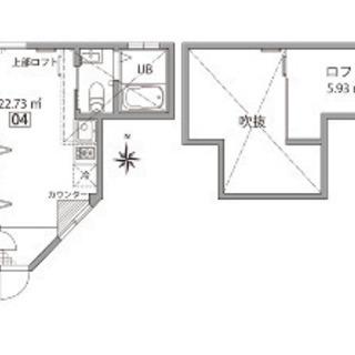祖師ケ谷大蔵 1R+ロフトと土間のある個性的な部屋♪