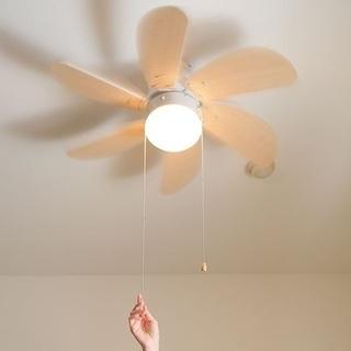 小部屋用 シーリングファン ライト 照明 LED 天井ファン