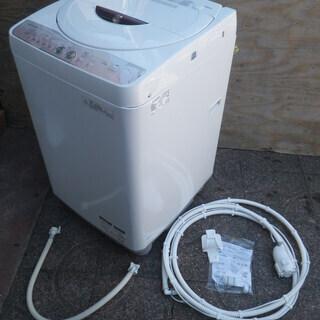 ■配達可■シャープ 全自動洗濯機 6Kg ピンク ES-GE60L...